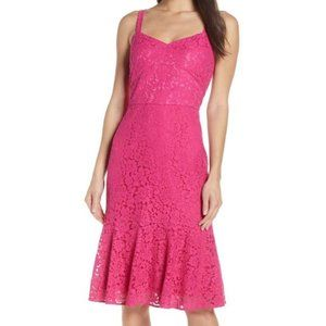 Chelsea28 Pink Sleeveless Lace Fit & Flare Dress 4